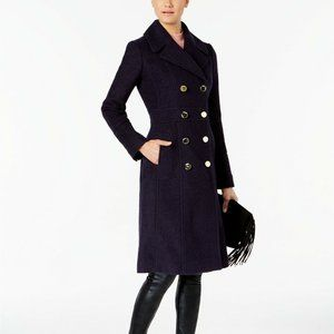 Guess NAVY Double-Breasted Pea-coat
